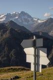 Muestras de la flecha de Monte Rosa fotos de archivo libres de regalías