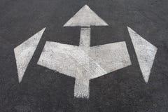 muestras de la flecha direccional Imagen de archivo libre de regalías