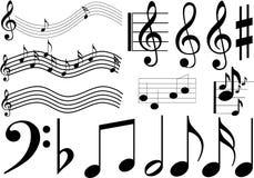 Muestras de la música Foto de archivo libre de regalías