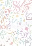 Muestras de la música del pastell del fondo