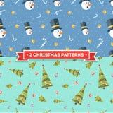 Muestras de la Navidad Fondo de la vendimia de la Navidad stock de ilustración