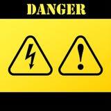muestras de la Peligro-advertencia-atención Ilustración del vector Fotos de archivo