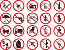 Muestras de la prohibición Fotografía de archivo libre de regalías
