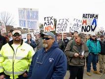 Muestras de la protesta de la pesca Imágenes de archivo libres de regalías
