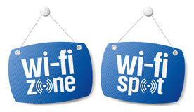 Muestras de la señal del Internet de Wi-Fi. stock de ilustración