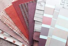 Muestras de la tapicería y del color fotografía de archivo libre de regalías
