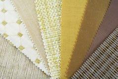Muestras de la tapicería Imagen de archivo libre de regalías
