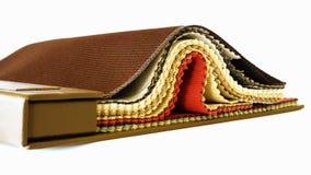 Muestras de la tela de tapicería Foto de archivo libre de regalías