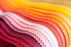 Muestras de la tela del color Imagen de archivo libre de regalías
