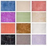 Muestras de la textura de los azulejos de mármol Fotografía de archivo