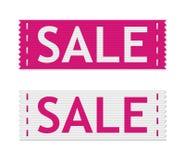 Muestras de la venta del vector Foto de archivo libre de regalías