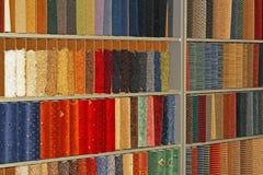 Muestras de las alfombras fotografía de archivo