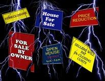 Muestras de las propiedades inmobiliarias stock de ilustración