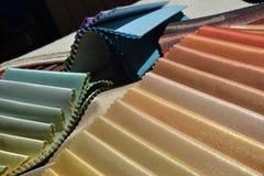 Muestras de las telas para la decoración de la casa Imagenes de archivo