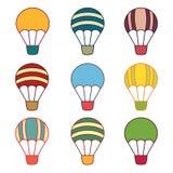 Muestras de los balones de aire Imagen de archivo libre de regalías