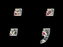 Muestras de los dos puntos y del semicolumn - collage de fotos Imágenes de archivo libres de regalías