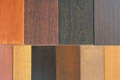 Muestras de madera foto de archivo libre de regalías