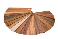 Muestras de madera del color Foto de archivo