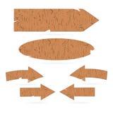 Muestras de madera, flechas, letreros stock de ilustración