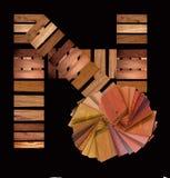 Muestras de madera reales Fotografía de archivo libre de regalías