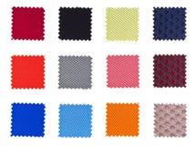 Muestras de materias textiles Fotos de archivo