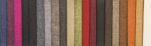 Muestras de materias textiles imágenes de archivo libres de regalías