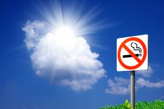 Muestras de no fumadores. Foto de archivo libre de regalías