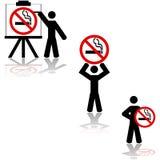 Muestras de no fumadores ilustración del vector