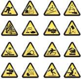 Muestras de peligro industriales Fotografía de archivo