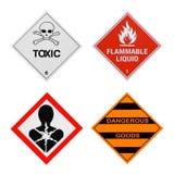 Muestras de peligros industriales Fotos de archivo