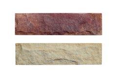 Muestras de piedra de la arena aisladas Imágenes de archivo libres de regalías