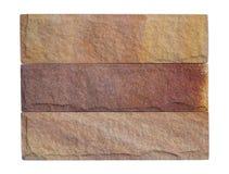 Muestras de piedra de la arena aisladas Fotos de archivo