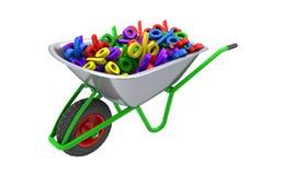 Muestras de porcentaje en la carretilla Imagen de archivo libre de regalías