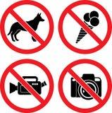 Muestras de prohibición del vector ilustración del vector