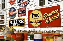 Muestras de publicidad coloridas de una naturaleza del vintage Fotos de archivo libres de regalías