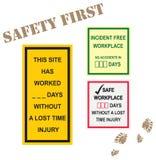 Muestras de seguridad del lugar de trabajo Fotografía de archivo