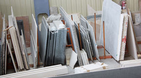 Muestras de varios tipos de mármol Foto de archivo