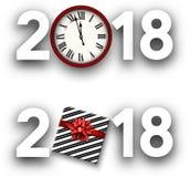 Muestras del Año Nuevo del blanco 2018 Fotos de archivo libres de regalías