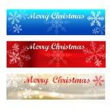 Muestras del Bandera-color de la Feliz Navidad Foto de archivo libre de regalías