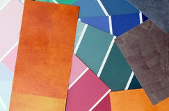 Muestras del color Imágenes de archivo libres de regalías