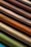Muestras del color de la tela Imágenes de archivo libres de regalías