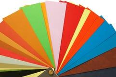 Muestras del color de papel Imágenes de archivo libres de regalías