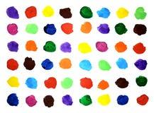 Muestras del color en la hoja de papel Fotografía de archivo