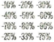 Muestras del descuento - con la corrección del recortes Stock de ilustración