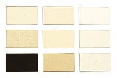 Muestras del granito para las encimeras de la cocina fotos de archivo libres de regalías