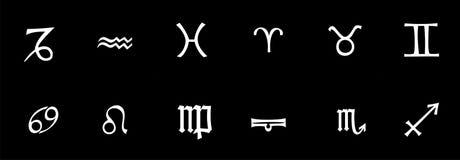 Muestras del horóscopo Ilustración del Vector