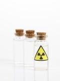 Muestras del isótopo radiactivo Imagen de archivo libre de regalías