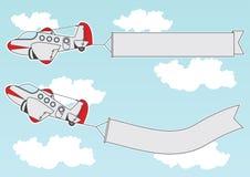 Muestras del jet de la historieta Imágenes de archivo libres de regalías