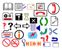 Muestras del logotipo Foto de archivo libre de regalías