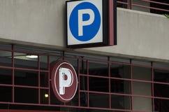 Muestras del parking Fotografía de archivo libre de regalías